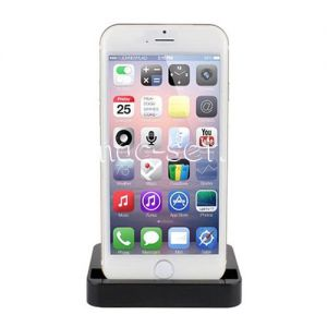Док-станция для Apple iPhone 5 / 5S / 6 / 6S / 6 Plus / 6S Plus (черная)