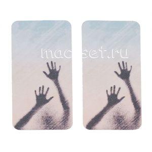 """Виниловая наклейка """"Арт"""" для Apple iPhone 4 / 4S [комплект] (руки)"""