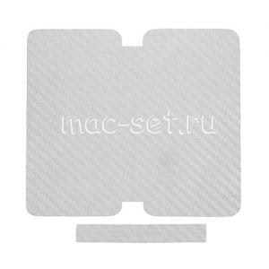 """Виниловая наклейка """"карбон"""" для Apple iPhone 5 [комплект] (белая)"""