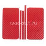 """Виниловая наклейка """"карбон"""" для Apple iPhone 5 [комплект] (красная)"""