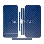 """Виниловая наклейка """"карбон"""" для Apple iPhone 5 [комплект] (синяя)"""