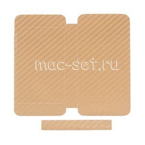 """Виниловая наклейка """"карбон"""" для Apple iPhone 5 [комплект] (золотистая)"""