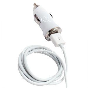 """Автомобильное зарядное устройство """"Пуля"""" USB 1000mA с кабелем (белое)"""