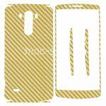 """Виниловая наклейка """"карбон"""" для LG G3 D855 / Dual D856 [комплект] (золотистая)"""