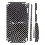 """Виниловая наклейка """"карбон"""" для LG G2 D802 [комплект] (черная)"""