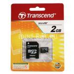 Карта памяти microSD 2GB Transcend + SD adapter