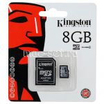 Карта памяти microSDHC 8GB Class 4 Kingston + SD adapter