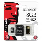 Карта памяти microSDHC 8GB Class 10 Kingston + SD USB adapter