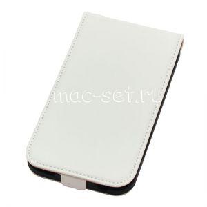 Чехол вертикальный флип кожаный для Samsung Galaxy Note 2 N7100 (белый)