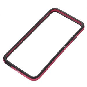 Чехол-бампер силиконовый для Apple iPhone 6 / 6S (черный с розовым)