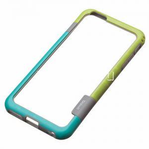 Чехол-бампер силиконовый для Apple iPhone 6 Plus / 6S Plus (голубой с салатовым) Walnutt
