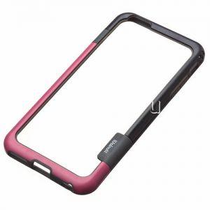 Чехол-бампер силиконовый для Apple iPhone 6 Plus / 6S Plus (малиновый с черным) Walnutt