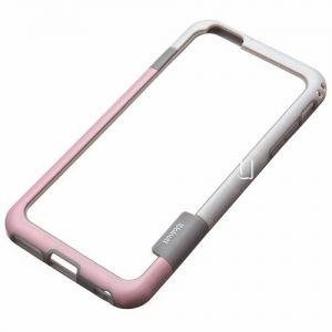 Чехол-бампер силиконовый для Apple iPhone 6 Plus / 6S Plus (розовый с белым) Walnutt