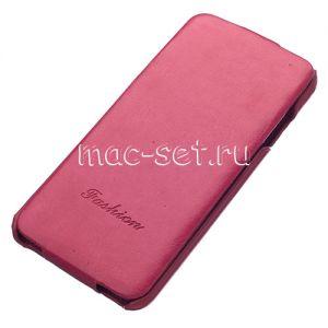 Чехол-книжка вертикальный флип для Apple iPhone 6 (розовый) Fashion