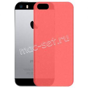 Чехол-накладка пластиковый для Apple iPhone 5 / 5S / SE ультратонкий (красный)