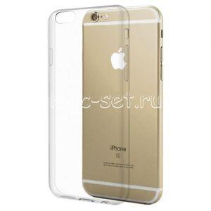 Чехол-накладка силиконовый для Apple iPhone 6 / 6S (прозрачный 0.5мм)