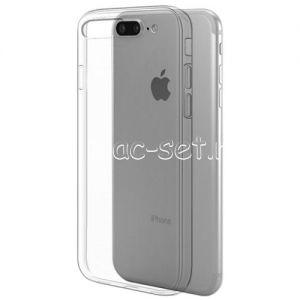 Чехол-накладка силиконовый для Apple iPhone 7 Plus / 8 Plus глянцевый (прозрачный)