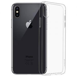 Чехол-накладка силиконовый для Apple iPhone X (прозрачный) HOCO