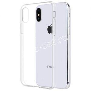 Чехол-накладка силиконовый для Apple iPhone X (прозрачный) iBox Crystal