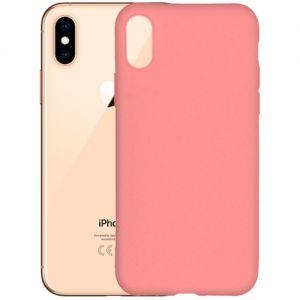 Чехол-накладка силиконовый для Apple iPhone X / XS (розовый 1.0мм) матовый
