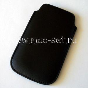 """Чехол-карман кожаный универсальный 3.5"""" (черный)"""