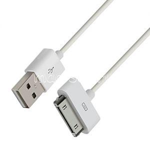 Дата-кабель для Apple 30 контактный разъем 1 метр (белый)