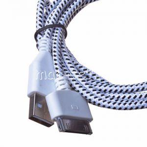 Дата-кабель для Apple 30 контактный разъем 2 метра [плетеный]