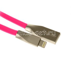Дата-кабель Apple Lightning 1м [плоский] Red Line Smart High Speed (розовый)