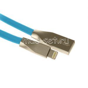 Дата-кабель Apple Lightning 1м [плоский] Red Line Smart High Speed (синий)