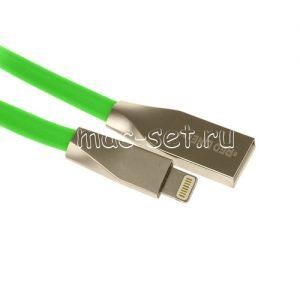Дата-кабель Apple Lightning 1м [плоский] Red Line Smart High Speed (зеленый)