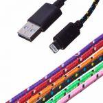 Дата-кабель для Apple Lightning 1 метр [плетеный]