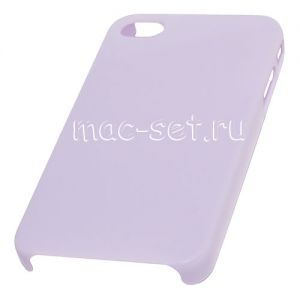 Чехол-накладка пластиковый для Apple iPhone 4 / 4S ультратонкий (сиреневый)