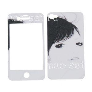 """Виниловая наклейка """"Аниме"""" для Apple iPhone 4 / 4S [комплект] (портрет девушки)"""