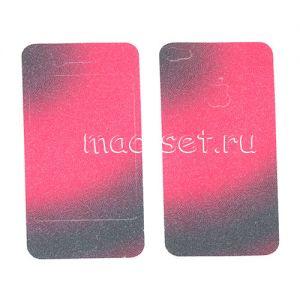 """Виниловая наклейка """"Арт"""" для Apple iPhone 4 / 4S [комплект] (красно-черная)"""