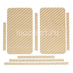 """Виниловая наклейка """"карбон"""" для Apple iPhone 4 / 4S [комплект] (золотистая)"""