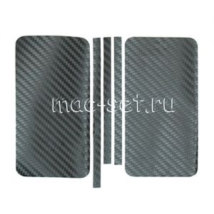 """Виниловая наклейка """"карбон"""" для Apple iPhone 5S / SE [комплект] (черная)"""