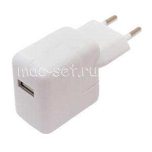Сетевое зарядное устройство 1xUSB 2400mA для Apple iPad (белое)