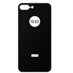 Защитное стекло 3D для Apple iPhone 7 Plus / 8 Plus заднее [изогнутое клеится полностью] (черное)