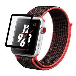 Защитное стекло для Apple Watch 42 мм (черное)