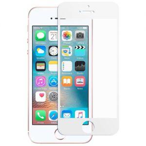 Защитное стекло для Apple iPhone 5 / 5C / 5S / SE [на весь экран] (белое)