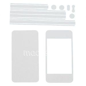 Виниловая наклейка (комплект) для Apple iPhone 4 / 4S (белая)