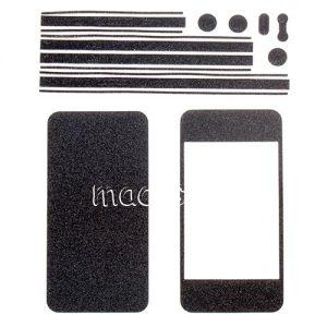 Виниловая наклейка (комплект) для Apple iPhone 4 / 4S (черная)
