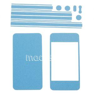 Виниловая наклейка (комплект) для Apple iPhone 4 / 4S (голубая)