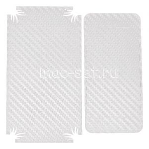 """Виниловая наклейка """"карбон"""" для Apple iPhone 5C [комплект] (белая)"""