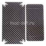 """Виниловая наклейка """"карбон"""" для Apple iPhone 5C [комплект] (черная)"""