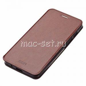 Чехол-книжка кожаный для ASUS ZenFone 4 A400CG (1200mAh) (коричневый) MOFI