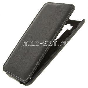 """Чехол-книжка вертикальный флип кожаный для ASUS ZenFone 2 Laser ZE550KL """"UpCase"""" (черный)"""