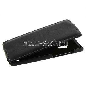 """Чехол-книжка вертикальный флип кожаный для ASUS ZenFone 5 A500CG / A501CG """"UpCase"""" (черный)"""