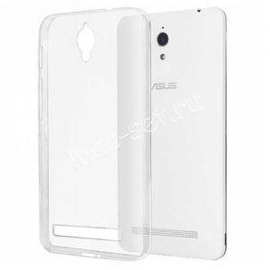 Чехол-накладка силиконовый для ASUS ZenFone C ZC451CG ультратонкий (прозрачный)