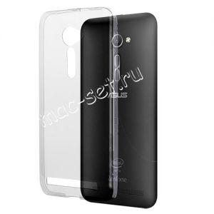 Чехол-накладка силиконовый для ASUS ZenFone 2 ZE500CL ультратонкий (прозрачный)